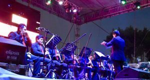 Banda sinfónica da concierto en festival La Conchita de Atlixco
