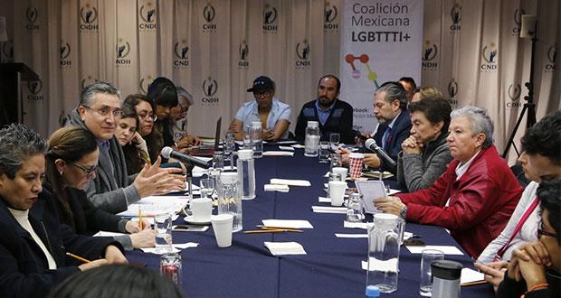 CNDH y Conapred buscan impulsar agenda a favor de sector Lgbttti