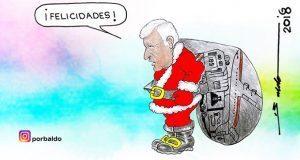 Caricatura: Los regalos de Amloclos