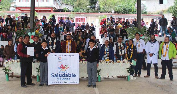 Certifican a primaria de Huitzilan como escuela saludable y segura