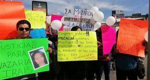 Exigen que culpables de asesinar en 2017 a Nazaria no salgan libres
