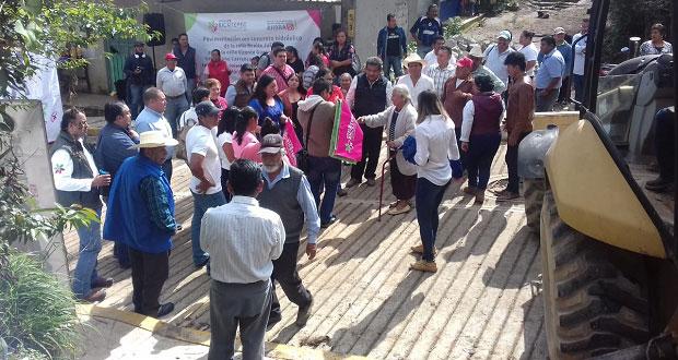 Inicia pavimentación de calle en la colonia Morelos de Xicotepec