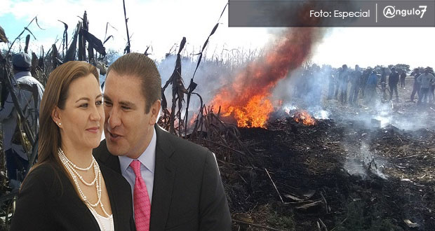 PAN confirma que mueren Martha Erika y RMV en desplome de avioneta en Coronango