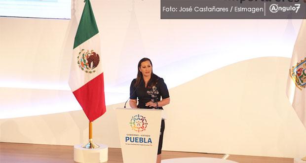 Martha Erika pide a Morena colaboración e invita a AMLO a visitar Puebla