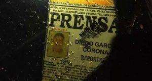 Matan a periodista Diego García en Ecatepec, Edomex; suman 14 casos