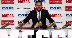 Otra vez el mejor, Messi gana su 5ta Bota de Oro y supera a CR7