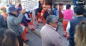 Naranjitas se manifiestan: acusan que sindicato niega apoyos de fin de año