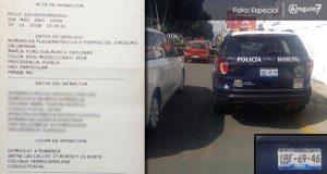 Tras denuncia, Ssptm infracciona a patrulla por estacionarse en ciclovía