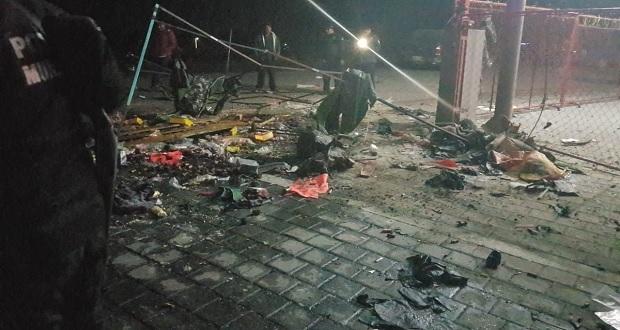 Explota puesto de pirotecnia en Acatzingo; hay tres heridos