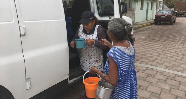 En Ahuatempan, adultos mayores realizan actividades recreativas