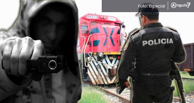 En Serdán, asesinan a policía y a supervisor de Ferrosur por proteger tren