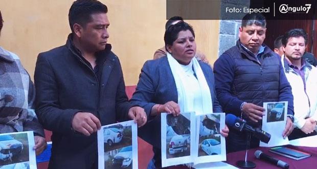 Ahora oposición busca intimidarme quemando vehículo oficial: Karina Pérez