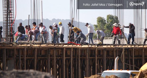 Personal en construcción crece 16.7% en Puebla; en el país, apenas .25%: Inegi