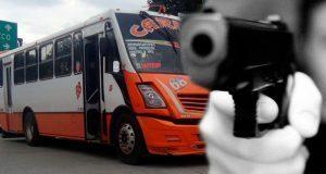 Continúan asaltos armados al transporte público