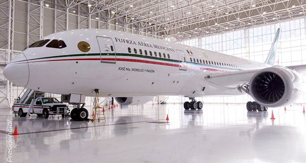 Avión presidencial se va a EU