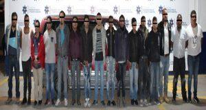 Ssptm desarticula banda de 16 sujetos dedicada al robo a tranporte