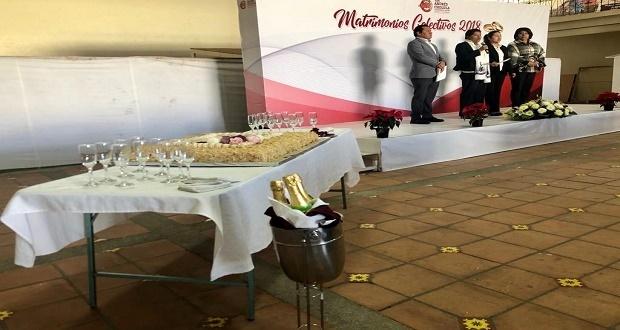 Ayuntamiento de San Andrés Cholula casa a 36 parejas