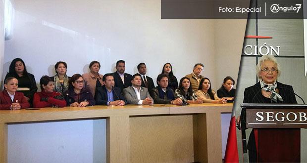 Diputados de Juntos Haremos Historia se reúnen con Segob sin Martha Erika