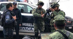 Ejército asume funciones de seguridad en tres municipios de Morelos