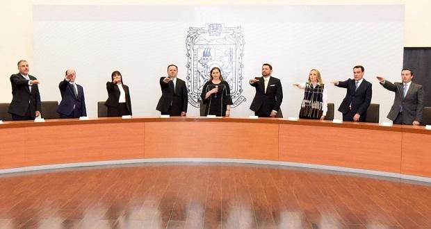 Martha Erika Alonso presenta a parte de su gabinete; faltan Secotrade y Salud