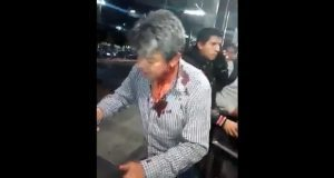 En paradero de Soriana de la Línea 3, guardia golpea a usuario