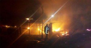 Pirotecnia provoca incendio en casa de Santa Clara Ocoyucan