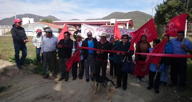 Inauguran introducción de red de drenaje sanitario en Ocoyucan