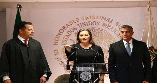 Martha Erika Alonso protesta como gobernadora ante el TSJ