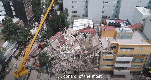 Lanzan minidocumental sobre el sismo del 19 de septiembre