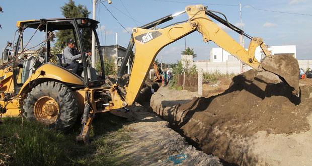 San Andrés Cholula invierte 3 millones de pesos en drenaje y bacheo