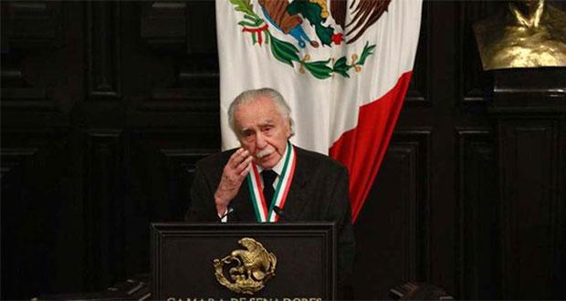 Al recibir la Belisario Domínguez, Payán pide oposición al fascismo. Foto: Canal del Congreso