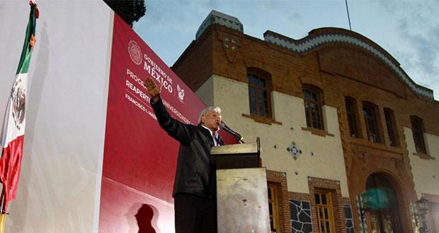 AMLO corrige: asegura que se reparará recorte al presupuesto de universidades