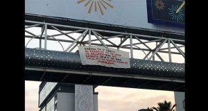 Aparece narcomanta en puente de la Atlixcáyotl con amenaza para Karina Pérez