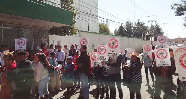 En delegación de Sagarpa, reclaman recorte del 55% al campo poblano