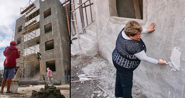 Inicia reconstrucción de Infonavit afectado por 19S en Atlixco