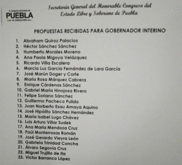 Se anota Miguel Trujillo para la interina y suman 23 perfiles