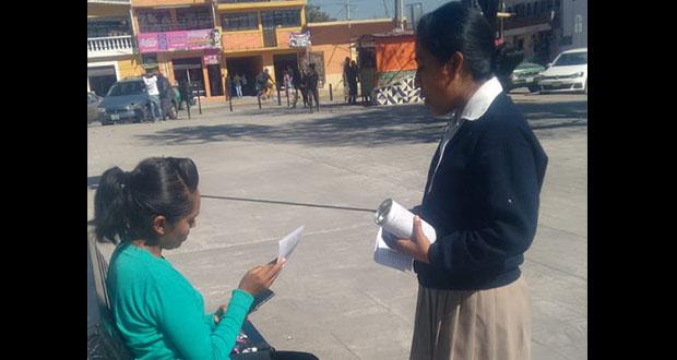 Alumnos de la Fnerrr en Amozoc realizan colecta ante carencias
