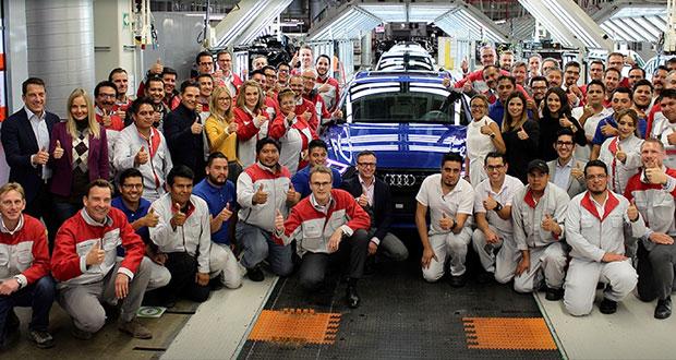 Audi en Puebla reporta aumento de 9.46% en producción de Q5 en 2018