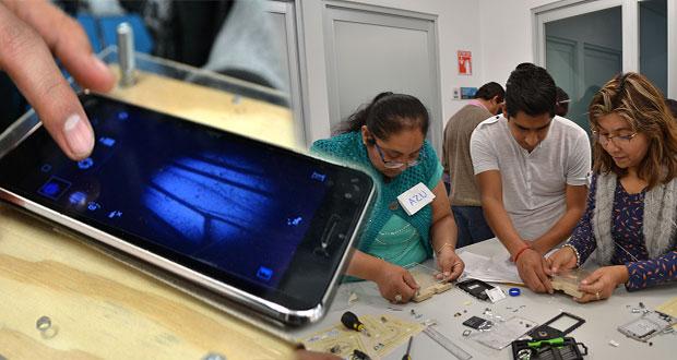 Físicos de la BUAP fabrican microscopio con materiales reciclados
