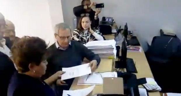 Cárdenas e Hinojosa formalizan postulación a gobierno interino