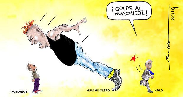 Caricatura: ¿Golpe a huachicol afectará a Puebla?