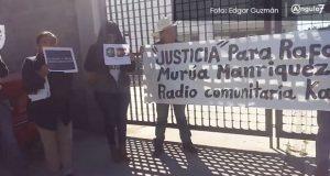 En FGR de Puebla, exigen justica por asesinato de periodista en BCS