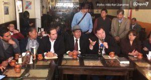 """Noroña critica """"chantaje"""" del PAN y avala que Barbosa repita como candidato"""