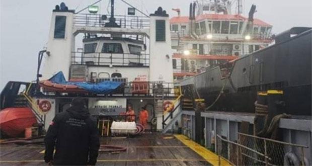 Aseguran 2 buques con 800 mil litros de huachicol en Golfo de México