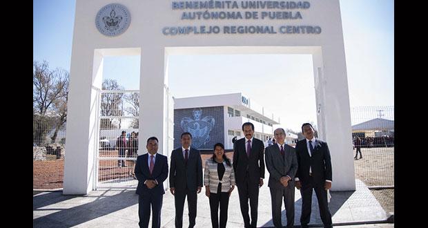 Inauguran edificios para preparatoria y TSU de la BUAP en El Seco