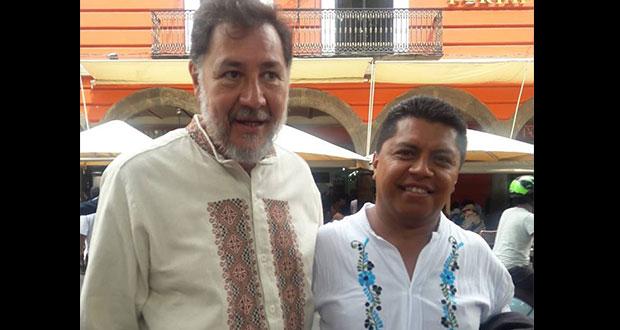 Omar Jiménez y Noroña colaboran por causas sociales en Puebla
