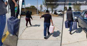 Por desabasto, llegan a Puebla de otros estados para cargar gasolina