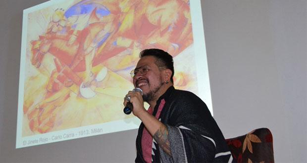 Presentan conferencia sobre deporte y estética futurista en BUAP