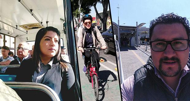 """Rivera y servidores públicos se suman al """"Día poblano sin coche"""