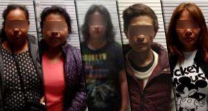 SSP detiene a 5 personas por robo a comercios de Puebla capital